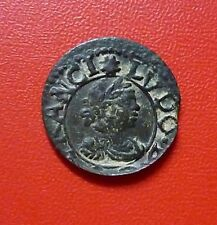 SPAIN (Catalonia) COPPER COIN Dinero, 1644 (Vic) Luis XIV