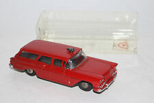 Hubley Real Toys, Red 1958 Chevrolet Fire Chief Station Wagon with Box