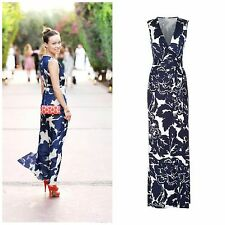 DVF Diane von Furstenberg 'New Yahzi Two' Silk Jersey Wrap Maxi Dress Sz 0 $578