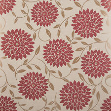 Graham & Brown Flat Floral Wallpaper Roll - Flora Sand - Red - 58203