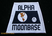 ALPHA MOON BASE SPACE HAT PATCH 1999 TV SHOW ASTRONAUT APOLLO CAPSULE ROCKET WOW