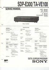 SONY Service Manual SDP-E300/TA-VE100 - B2022