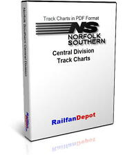Norfolk Southern Central Division Track Chart 2002 - PDF on CD - RailfanDepot