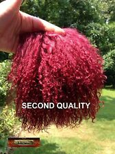 M00326 MOREZMORE Tibetan Lamb Fur ROSEWOOD PURPLE Seconds Doll Baby Hair NSS