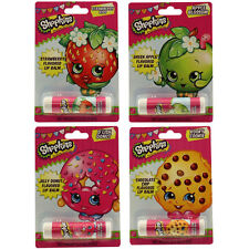 Boston America - Shopkins Lip Balm - SET OF 4 (Strawberry, Chocolate, G Apple+1)