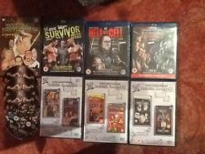 6 wwe dvds + 3 wwe blurays,king of the ring 99/2000,hell cell+survivor series 10