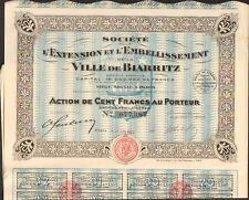 DECO =  Extension & Embellissement de la VILLE de BIARRITZ (L)