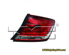 TYC NSF Right Side Tail Light Lamp Assembly for Honda Civic 2013-2015