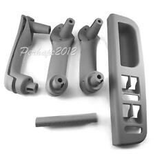 5pcs Grey Interior Handle Door Grab Cover Switch Bezel Set For VW etta Golf mk4