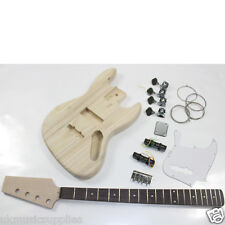 Coban HY109 JAZZ Bass Electric Guitar DIY TOP kit Unfinished Ash Body Project