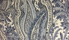 RALPH LAUREN PAISLEY KING DUVET COVER SET W / SHAMS BLUE INDIGO BLUE