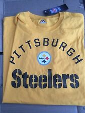 Men's Pittsburgh Steelers Nfl TShirt By Majestic Size XXL