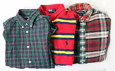 Ralph Lauren Boys Lot of 3 Large 16 / 18 Long Sleeve Button Downs w Pony + Polo