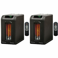 Lifesmart 3 Element 1500W Quartz Infrared Electric Portable Space Heaters (2)