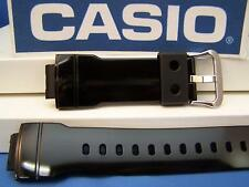 Casio Watch Band AW-582 SC-1 Shiny black Rubber Strap For Digital Analog G-Shock