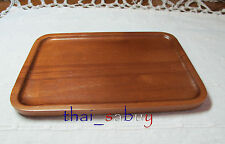 Natural Wood Samanea Saman Dish Wooden Rectangle Plate / Serving  Food or Bakery