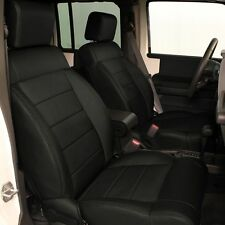 2011 2012 JEEP WRANGLER 4DR BLACK KATZKIN LEATHER INTERIOR SEAT COVER
