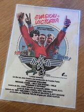 Repro Spanish Escape To Victory Laminated A4 Poster -Stallone, Pele, Bobby Moore