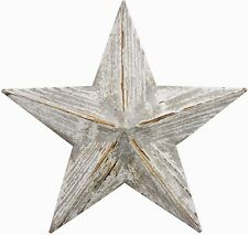 Large Shabby Chic Distressed Rustic Wooden HANGING STAR Wall Art next day desp
