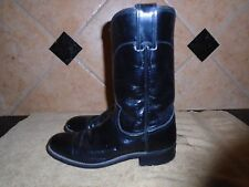 Justin Ladies' Black Leather Cowboy Western 6.5 A Style # L3703
