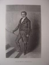 Gravure de Casimir Périer  Né à Grenoble