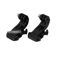 2 x J-Hook Buckle Mount Adapter Holder For GoPro Hero 2 3 3+ 4 Camera Accessory