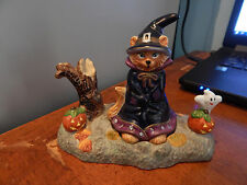 Partylite Halloween ABRACADABRA Tealight Candle Snuffer Cat Ghost Pumpkin Witch