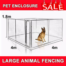 LARGE RECTANGULAR KENNEL RUN / DOG RUN / DOG CAGE / PET ENCLOSURE / PEN 4x4x1.8