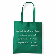 Art T-shirt, Borsa  George Best, Verde, Shopper, Mare