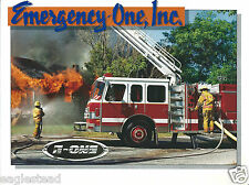 Fire Equipment Brochure - E-One - Product Line Overview Display Foldout (DB227)