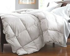 King White Down Feather Comforter Bedding Blanket Heavy Fill Baffle Box 90 oz FP