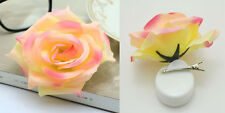 1pcs Romantic Silk Rose Hair Accessory Flower Hairpin Hair Clip For Prom MIXED