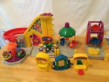 Fisher Price Little People Carnival Merry Go Round Swing Amusement Park