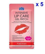 [PUREDERM] BOTANICAL CHOICE Intensive Lip Care Gel Patch 5 Pack/ Lip-shaped Mask