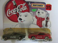 MATCHBOX COCA COLA DAD'S 1968 FORD MUSTANG & SON'S 1999 FORD MUSTANG HARDTOP