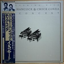 HERBIE HANCOCK CHICK COREA / AN EVENING WITH (2LP) w/OBI Insert Orig JAPAN ISSUE