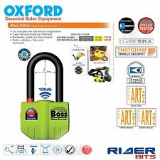 OXFORD BOSS ALARM U LOCK LONG SHACKLE 100dB THATCHAM APPROVED MOTORCYCLE BIKER