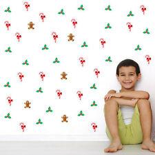 Christmas Gingerbread Man Vinyl Wall Stickers, Wall Decals, Removable