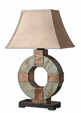 "Indoor/Outdoor Slate and Hammered Copper Table Lamp 29""H by Uttermost 26307"