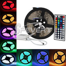5M Waterproof 5050 300 LED RGB Flexible Strip Fairy Car Light w/44Keys Remote