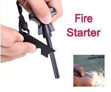 Outdoor Survival Magnesium Feuerstein Feuerzeug Feuerstarter Flintstone OP