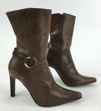 Steve Madden Trusty boots stiletto brown distressed leather size 5.5