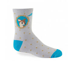 Sock It To Me Youth Crew Socks - Fawn In Frame - Age: 4-7