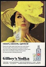 1965 GILBEY'S VODKA AD~LONDON DRY GIN~NEW YORK CITY~SMART-SMOOTH-SPIRITED