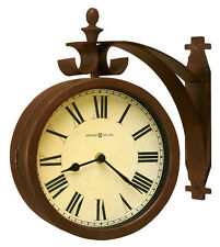 625-317 O'BRIEN  HOWARD MILLER TWO SIDED WALL CLOCK    625317