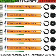 Tapparelle Elettriche Automatismi Serrande Avvolgibili Sei Motori 220 V. 40 kg.