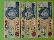 Bahamas $1 1992 (Used), 3pcs