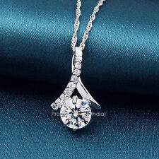 Lovely 1.50+ct Fancy Off White Yellow Moissanite .925 Sterling Silver Pendant