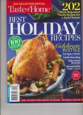 TASTE OF HOME MAGAZINE 2014 COLLECTORS EDITION, BEST HOLIDAY RECIPES.