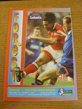 21/10/1995 Nottingham Forest v Bolton Wanderers  (the item is in good/very good